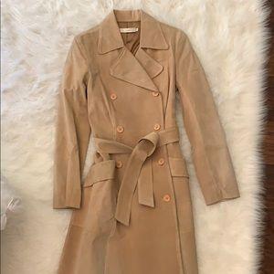 Jackets & Blazers - Suede trench coat